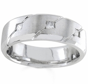 Mens Diamond Wedding Band 0.21cttw 7mm