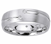 Mens Diamond Wedding Ring (0.12cttw)