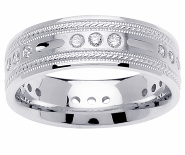 Mens Diamond Wedding Ring (0.45cttw) - click to enlarge