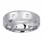 Mens Diamond Wedding Ring in 7mm 0.40cttw
