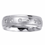Mens Diamond Wedding Ring in 7mm 0.48cttw