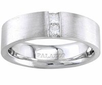 Mens Palladium Wedding Ring Designer Diamonds