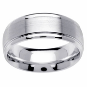 Mens Platinum Wedding Ring In 8mm Comfort Fit