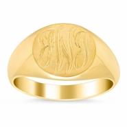 Mens Signet Ring 14k