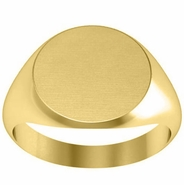 Mens Signet Ring in 14kt Yellow Gold