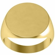 Mens Signet Ring Open Back