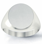 Mens Signet Ring Rounded Oval