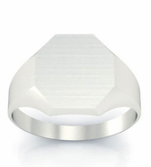 Mens Signet Rings Chunky Octagon