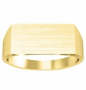 Mens Signet Rings Gold