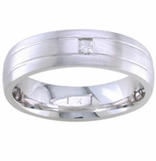 Mens Solitaire Diamond Band