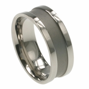 Mens Titanium Ring in 8mm