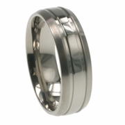 Mens Titanium Wedding Ring in 7mm