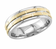 Mens Wedding Ring 6.5 mm Comfort Fit