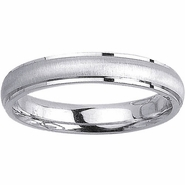 Mens Wedding Ring in 4mm 14kt White or Yellow Gold, Sizes 4-16 In Stock