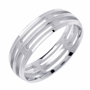 Mens White Gold Wedding Ring