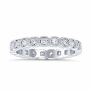 Milgrained Halo Eternity Ring