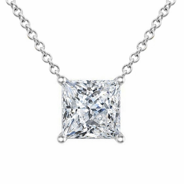 Moissanite floating princess cut solitaire pendant necklace moissanite floating princess cut solitaire pendant necklace click to enlarge aloadofball Gallery