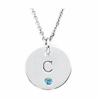 Monogram Birthstone Pendant Necklace