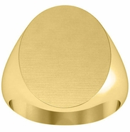 Monogram Signet Ring Gold