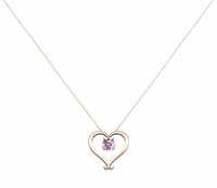 Morganite Heart Pendant