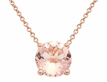 morganite pendant slide halo diamond rose with cushion gold pendants necklace