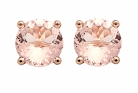 Morganite Stud Earrings