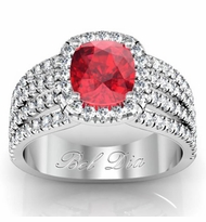 Multi-Band Ruby Engagement Ring