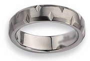 Notched Titanium Ring Matte Finish in 6mm