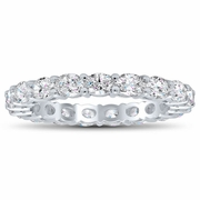 Oval Cut East West Diamond Eternity Ring, 1.90cttw