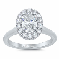 Halo Ring Setting for an Oval Diamond or Moissanite