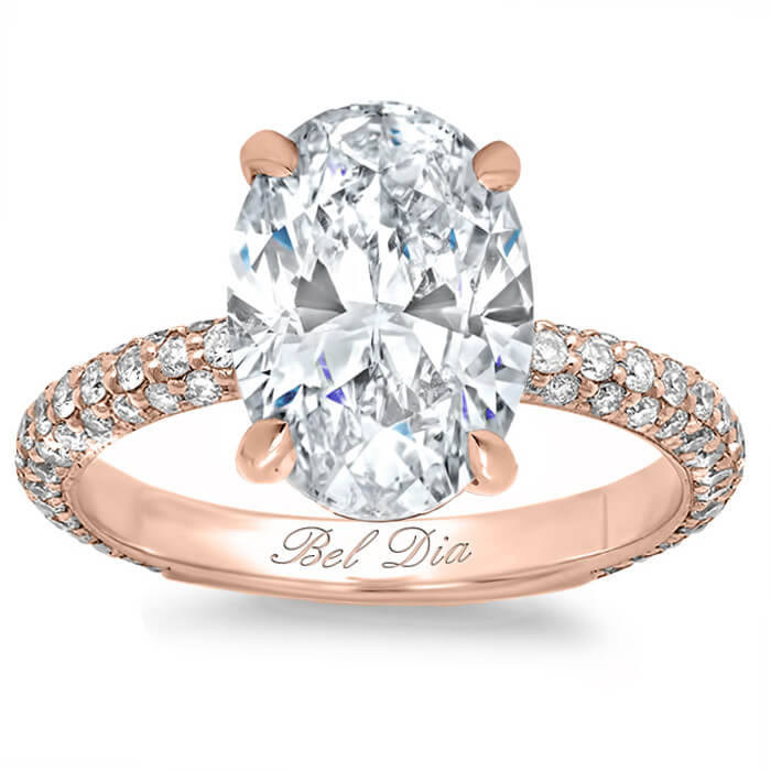 carats solitaire ring rose g canada certified diamond gia product oval halo rings pave gold mark jewellery engagement if
