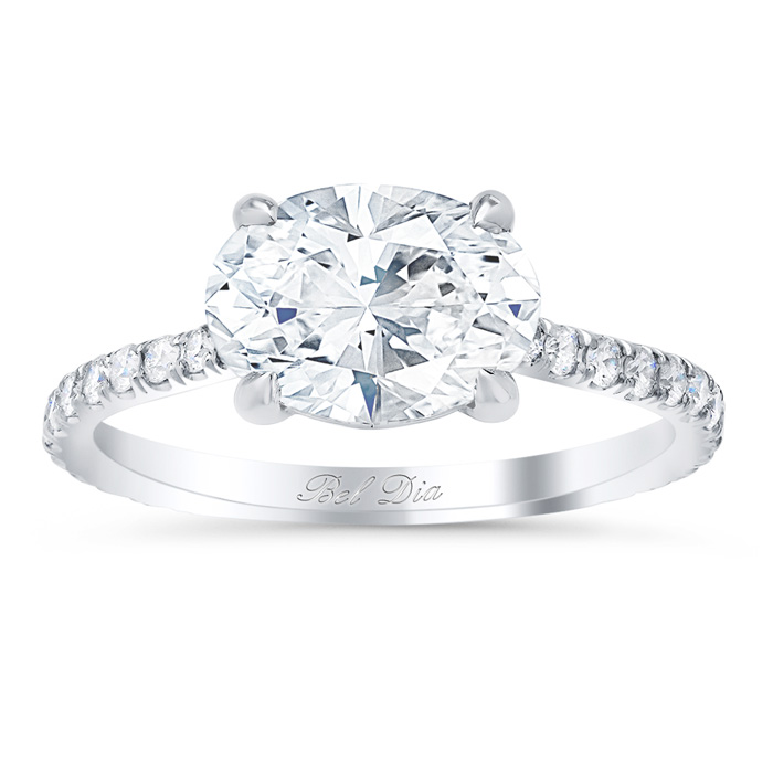 east west engagement ring click to enlarge - Oval Wedding Ring