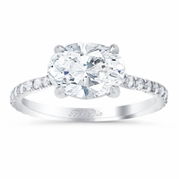 East West Engagement Ring