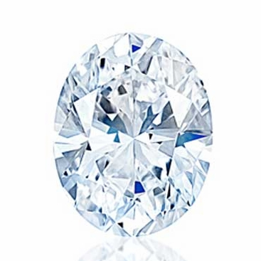 Charles and Colvard Oval Forever One Moissanite - click to enlarge