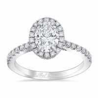 Oval Halo Wedding Ring