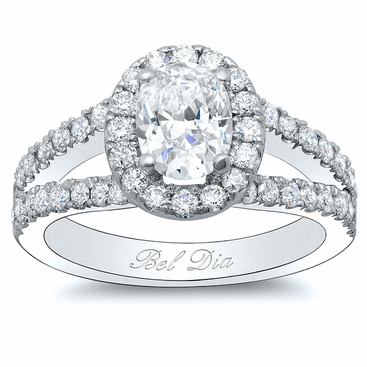 Oval Halo Wide Split Setting - click to enlarge