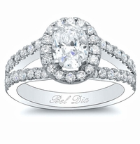 Oval Halo Wide Split Setting