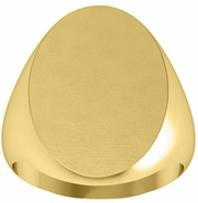 Oval Mens Signet Ring