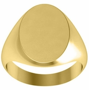 Oval Monogram Signet Ring