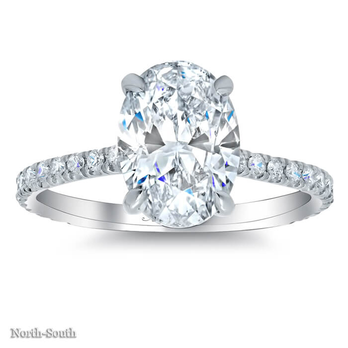 oval pave engagement ring click to enlarge - Oval Wedding Ring