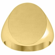 Oval Plain Signet Ring