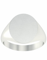 Oval Round Signet Ring