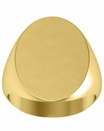 Oval Signet Ring 14k Gold