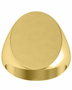 Oval Signet Ring 14kt Gold