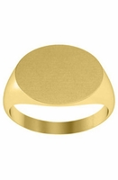 Oval Womens Signet Rings Yellow Gold