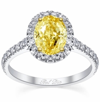 Oval Yellow Diamond Engagement Ring