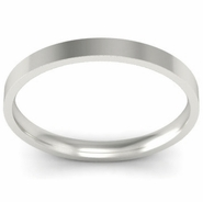 Palladium Flat Ladies Wedding Ring