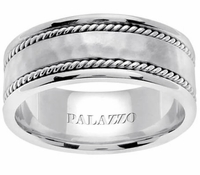 Palladium Mens Ring Handmade Twists 8mm