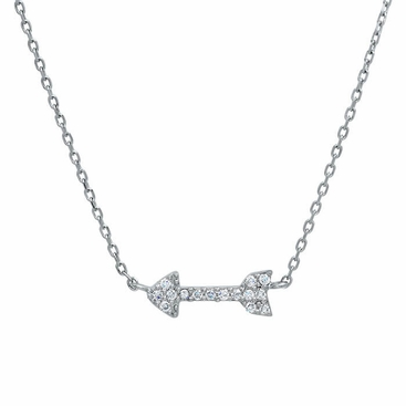 Pave Diamond Arrow Necklace - click to enlarge