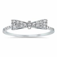 Pave Diamond Bow Ring